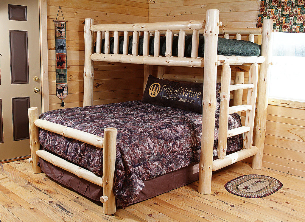 Space Saver Log Loft Bed Frame