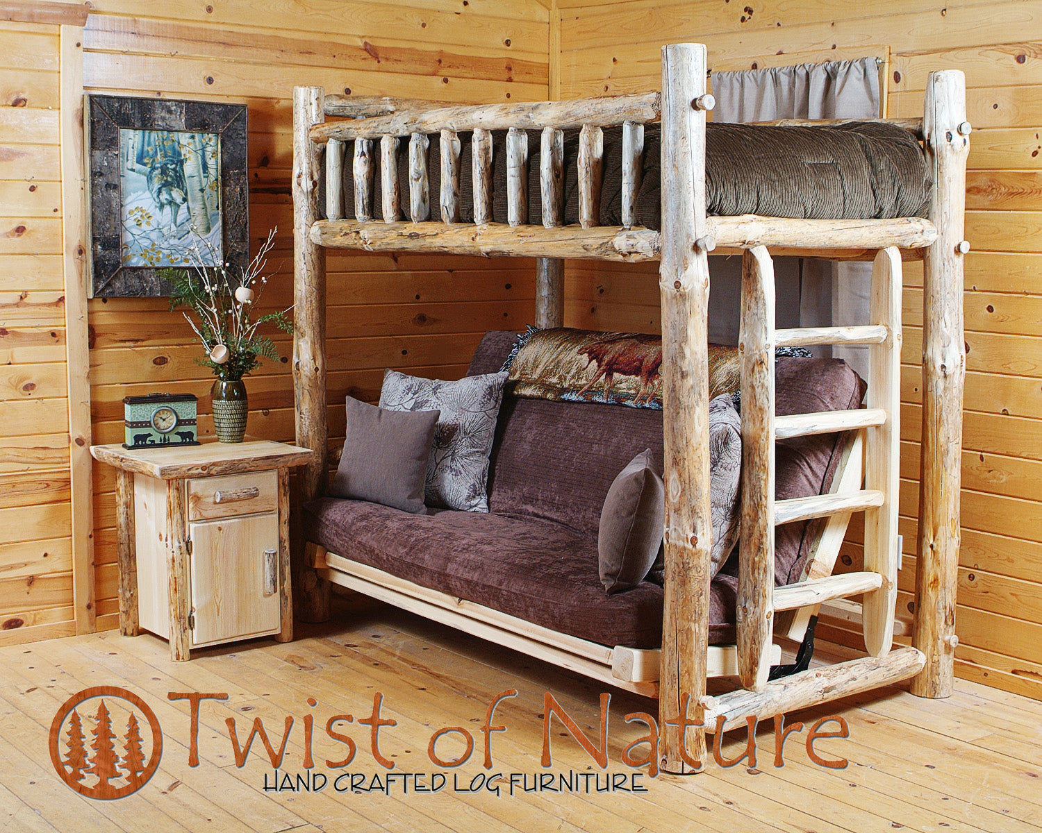 Log Futon Bunk Bed Twistofnature