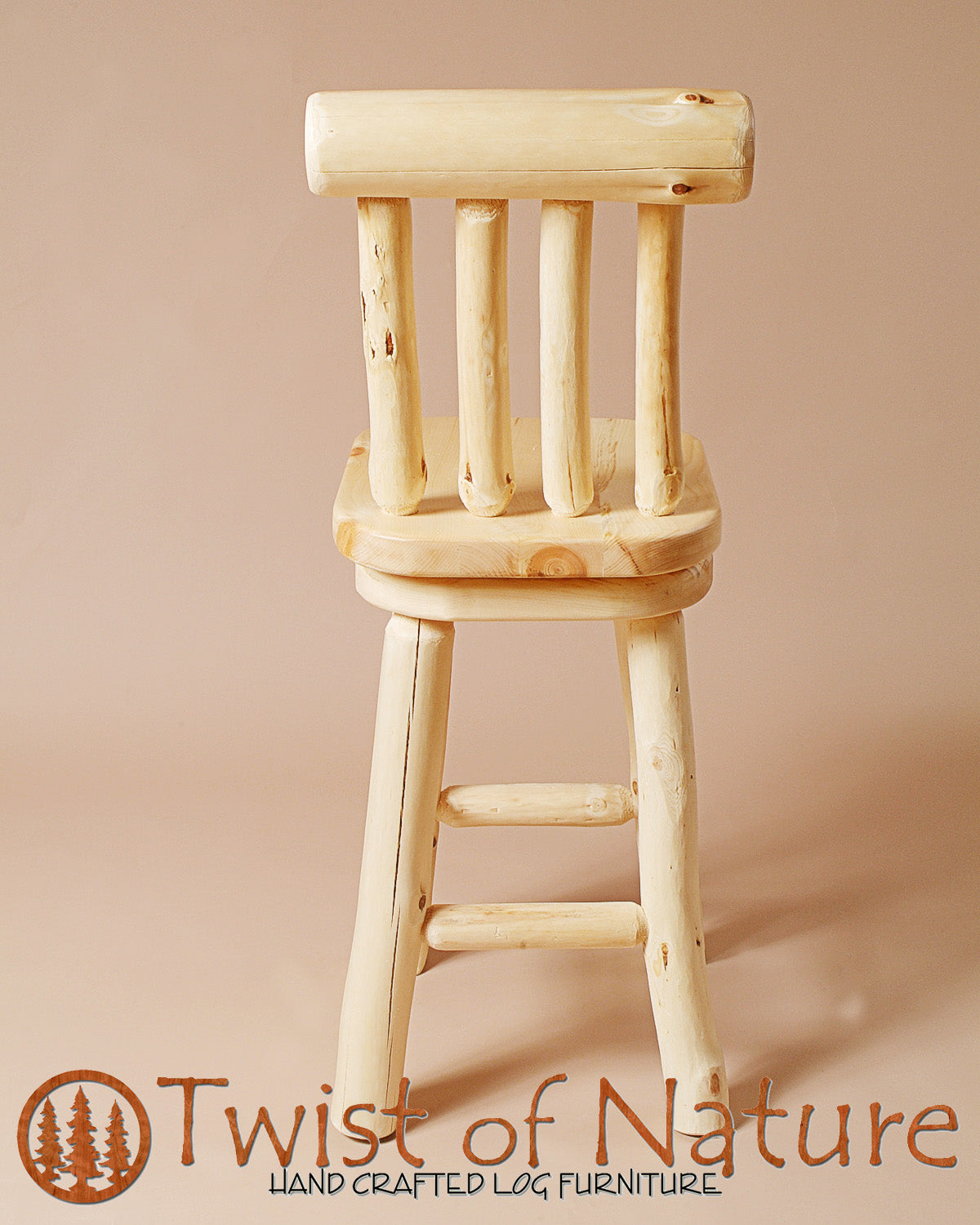 Bar Stool w/ Back and Swivel