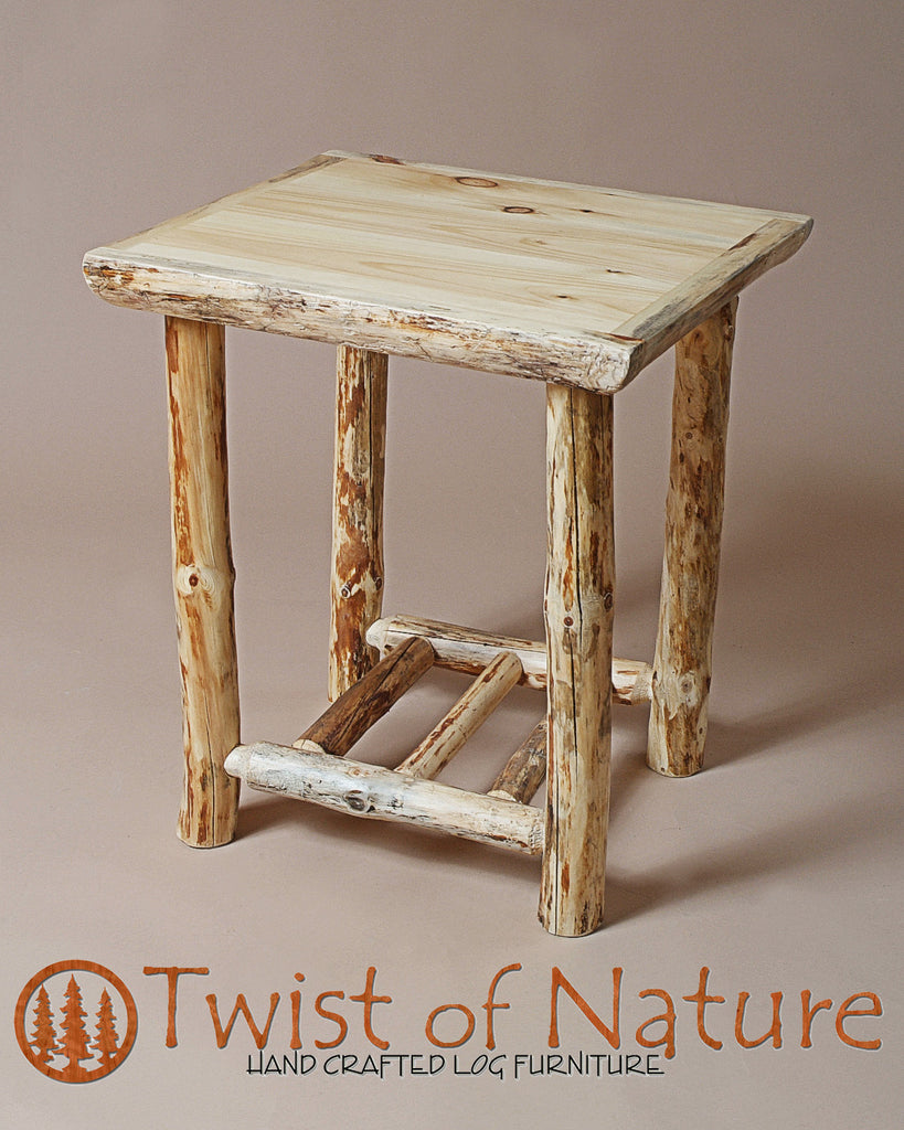 Standard Log Nightstand/End Table