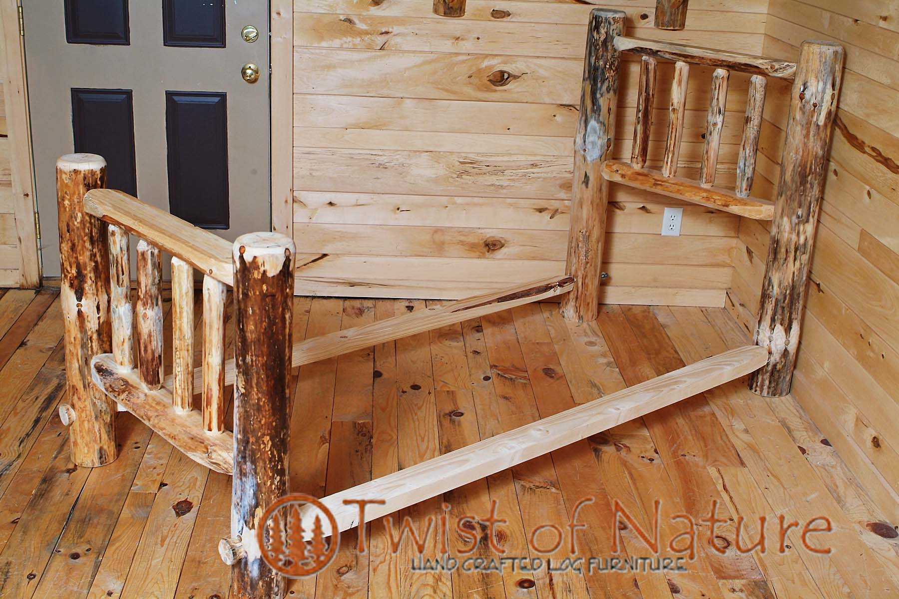 Lakeside Edition Log Bed Frame Kit