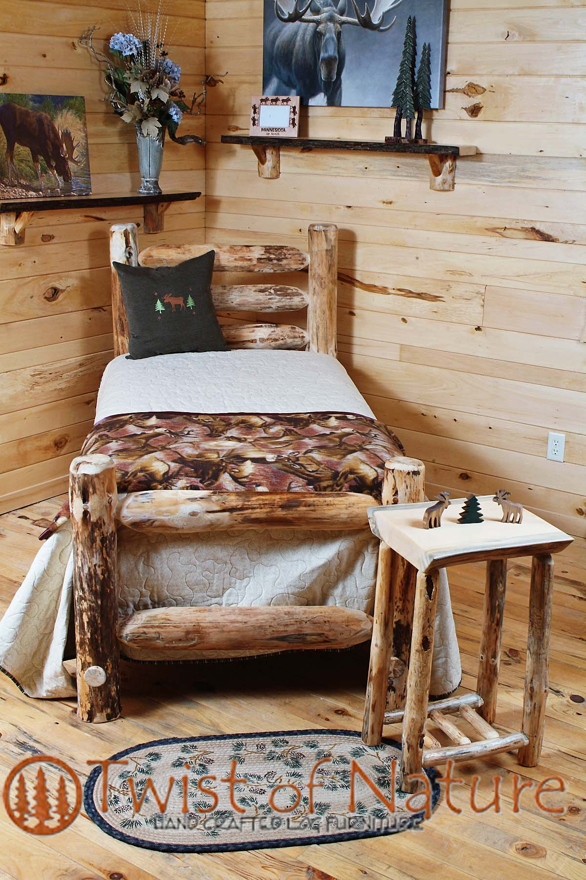 Western Corral Log Bed Frame Kit Twistofnature