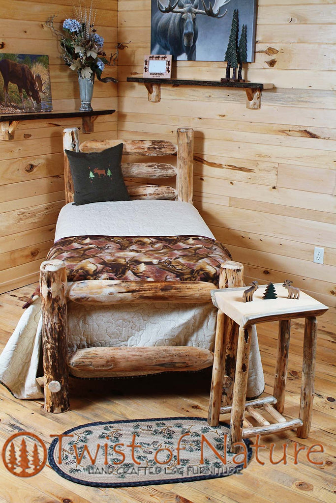 Western Corral Log Bed Frame Kit