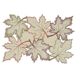 Maple Leaves Embroidered Placemat