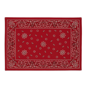 Red Bandana Printed Placemat