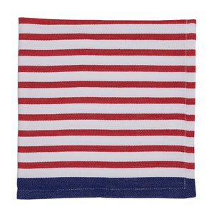 Candy Apple Nauti Stripe Napkin