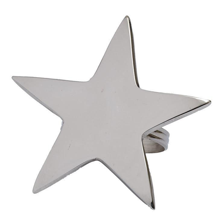 5 Point Silver Star Napkin Ring