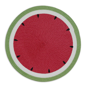 Watermelon Embroidered Braided Placemats