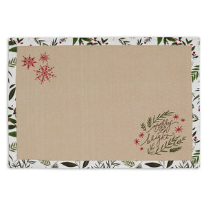 Merry & Bright Embellished Placemat