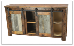 Reclaimed Barn-Wood Entertainment Center