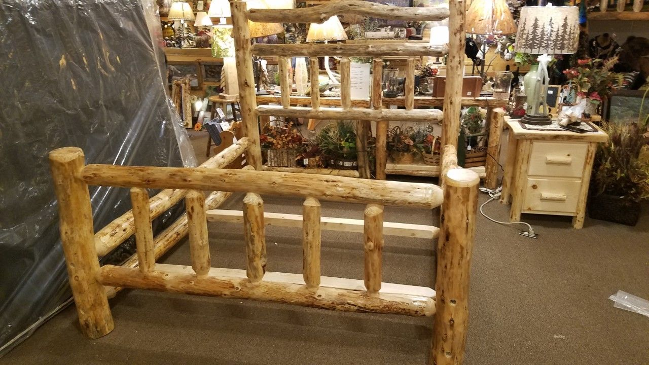 Deluxe Double Log Side-Rails, Rustic Bed Frame Kit