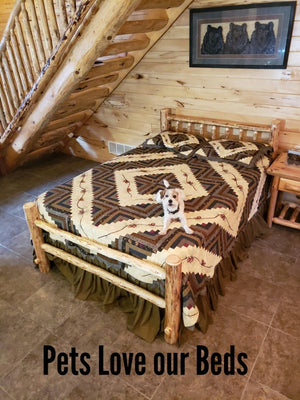 NEW! Wilderness Rustic Log Bed Frame Kit
