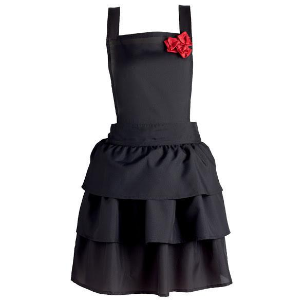 Ruffles & Red Roses Vintage Apron