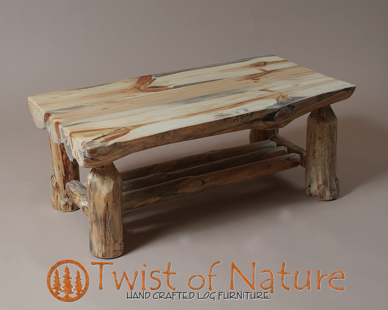 Half Log Coffee Table