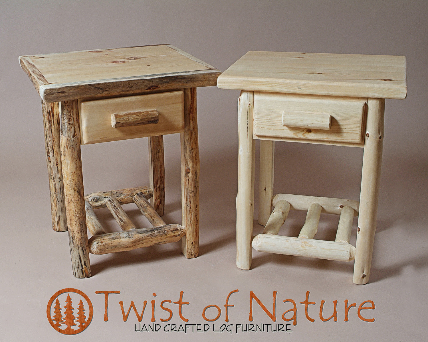 Drawer With Shelf Nightstand End Table Twistofnature