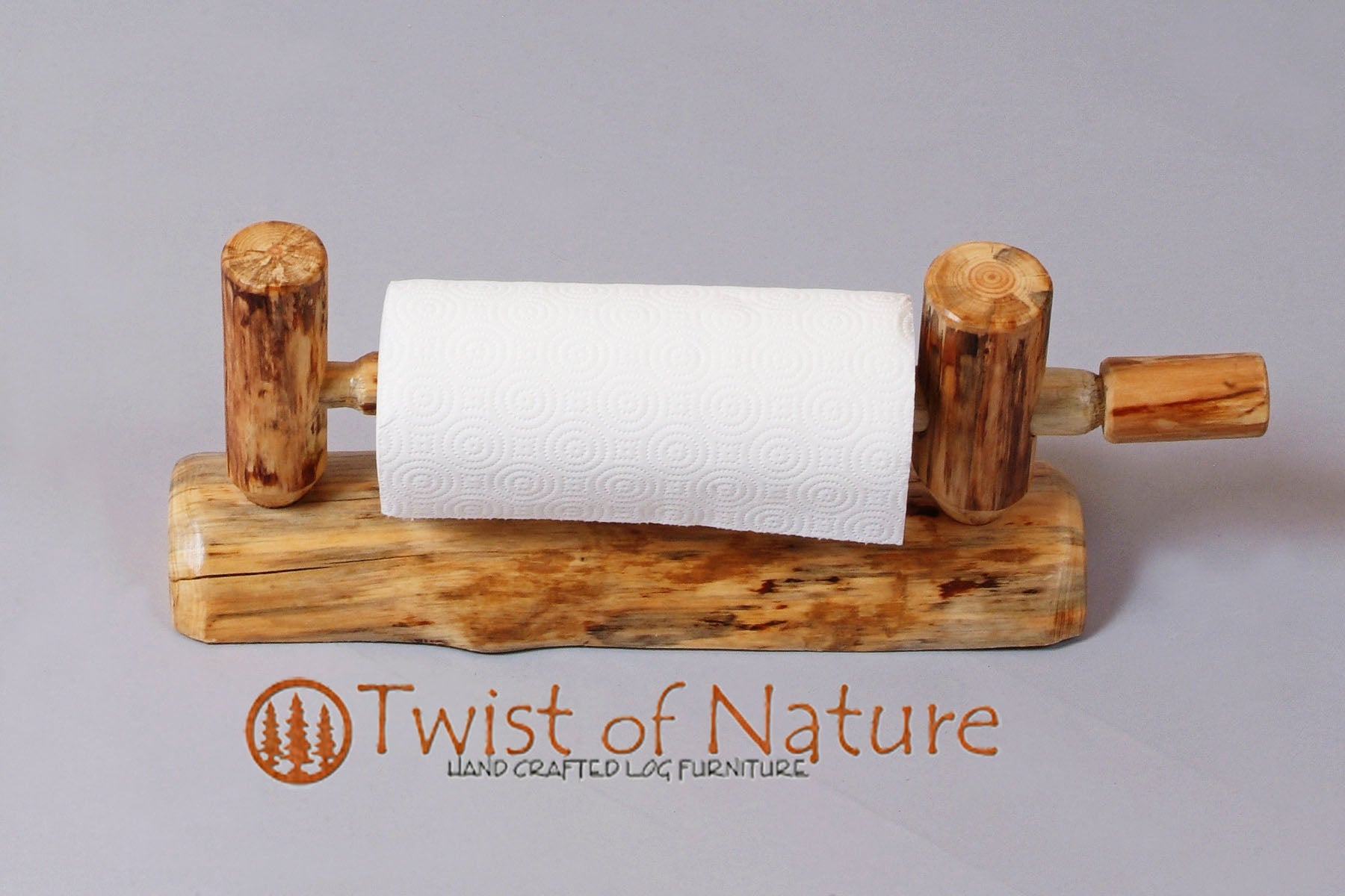 Log Paper Towel Or Toilet Paper Holder Wall Mount Twistofnature