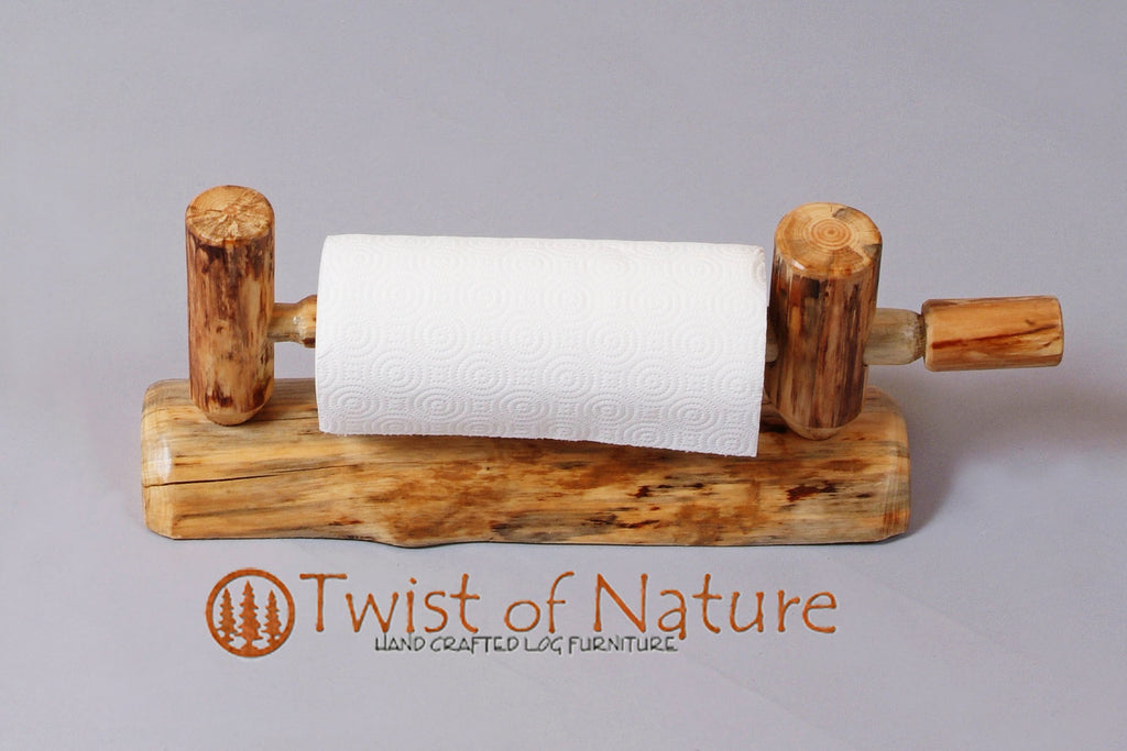Log Paper Towel Holder (Wall Mount)