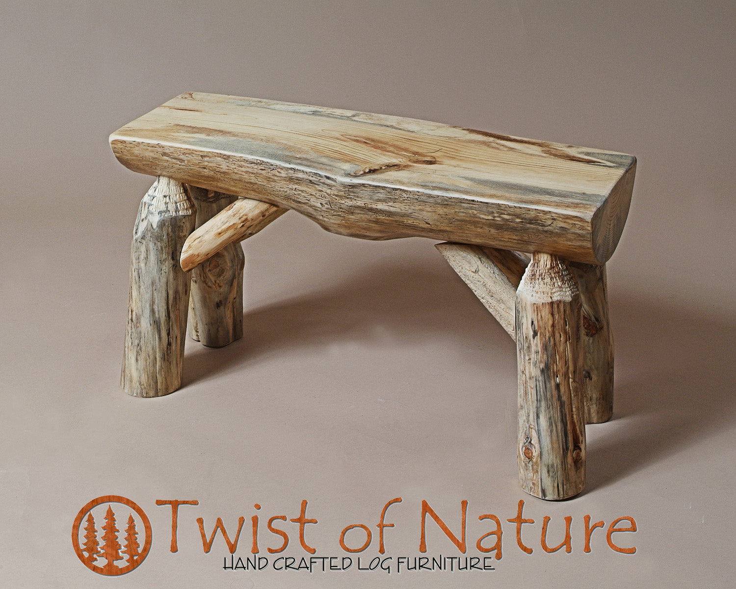 Indoor Half Log Bench