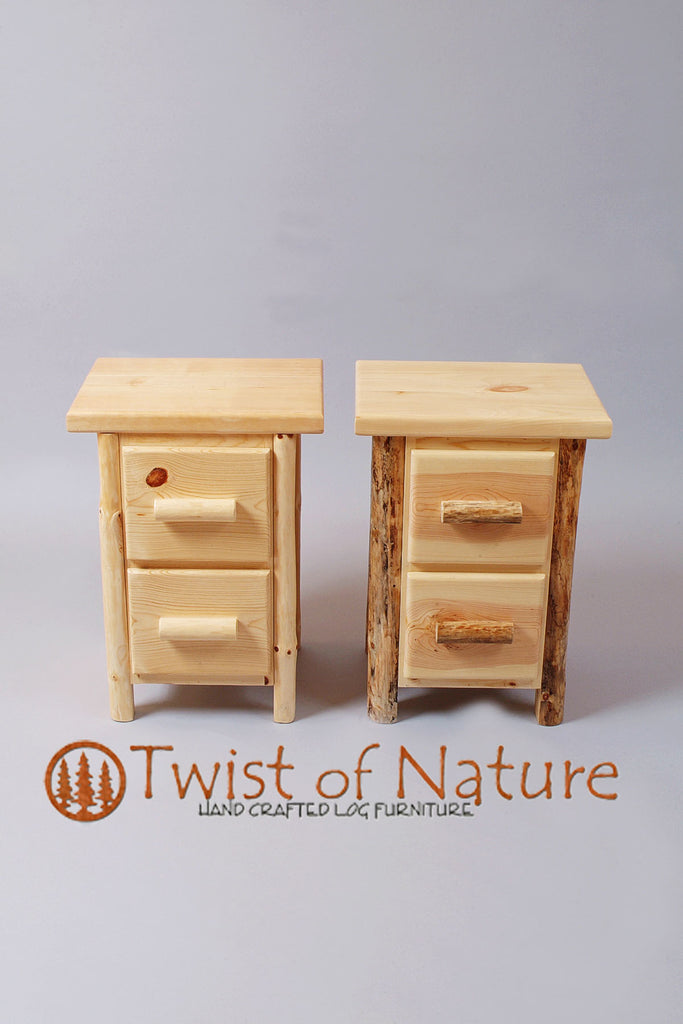 Space Saver 2 Drawer Nightstand/Endtable
