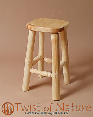 Standard Log Bar Stool
