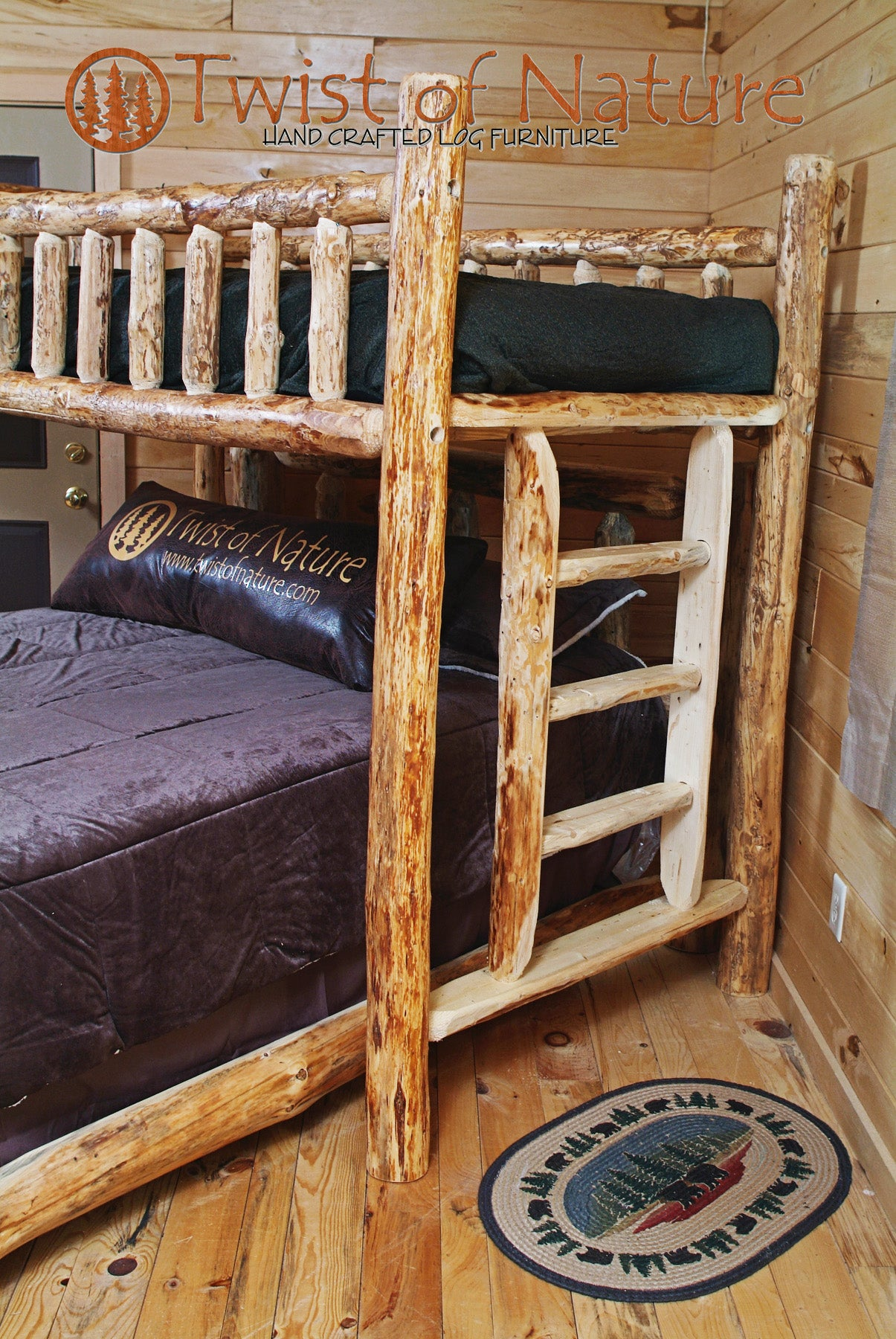 Log Cabin Bed (Not Kit Form, Ships Freight)