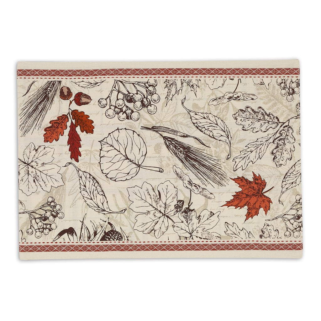 Acorn Harvest Embellished Placemat