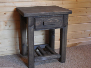 Timber-Jack Drawer w/Shelf Nightstand