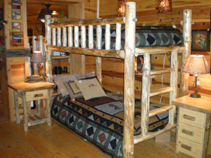 Log Bunk-Bed- Ships Freight (Not Kit Form)