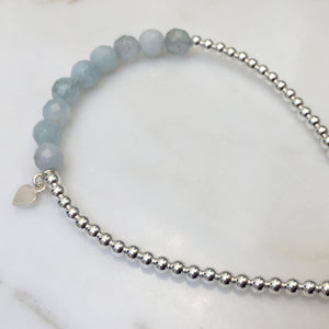 Silver and Aquamarine