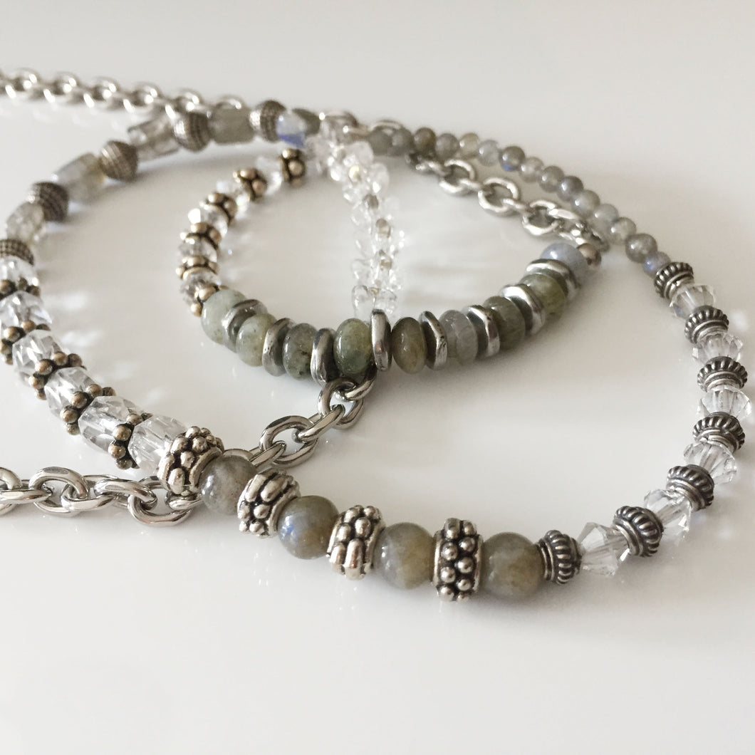 Labradorite and Silver