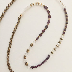 Garnets and Vintage Crystals