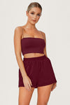 Yvonne Crop Top - Burgundy