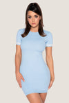 Lauri Short Sleeve Mini Dress - Baby Blue