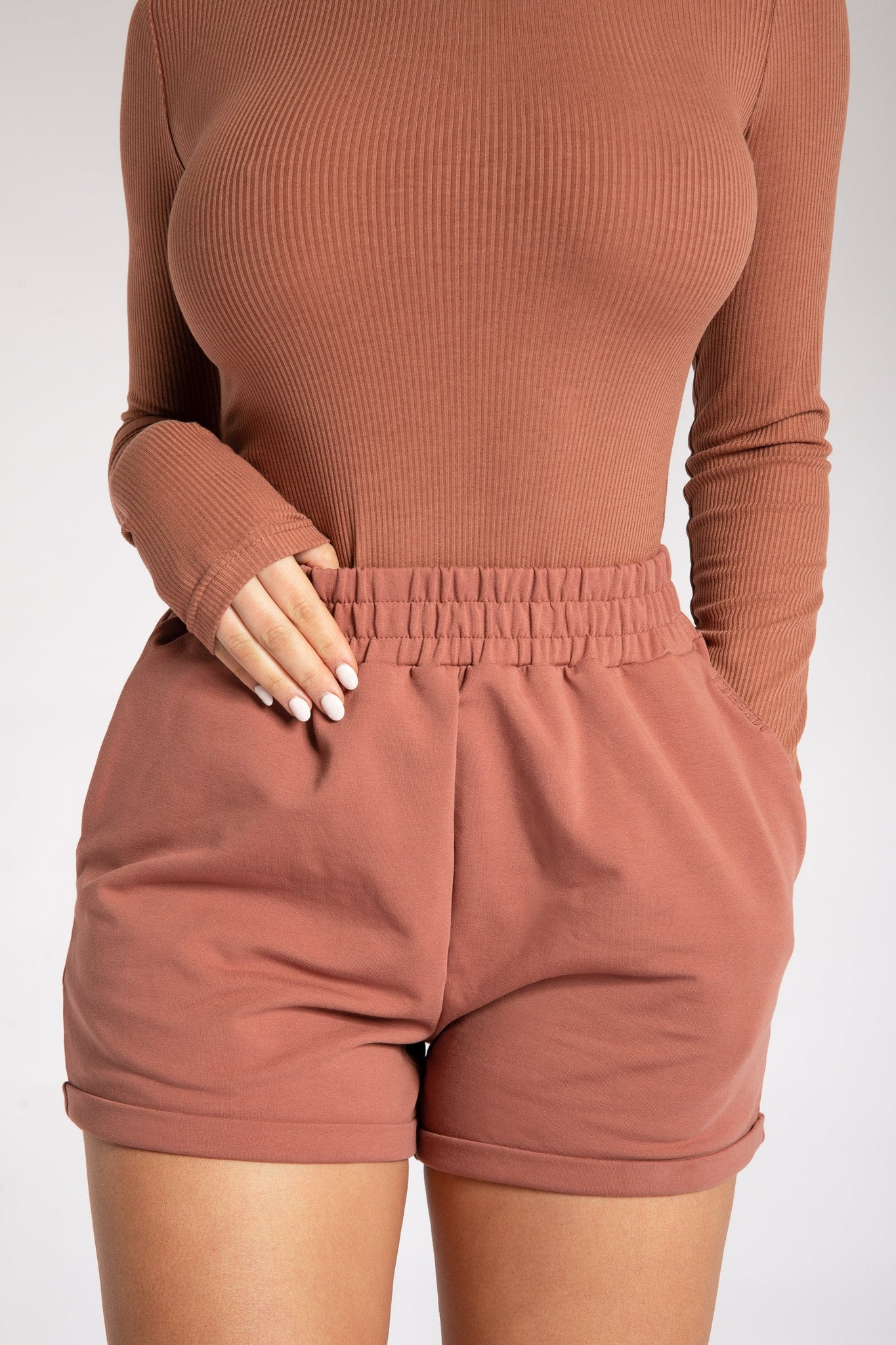 Lexie Long Sleeve Bodysuit - Sienna - MESHKI