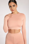 Emely Long Sleeve Crop Top - Sienna