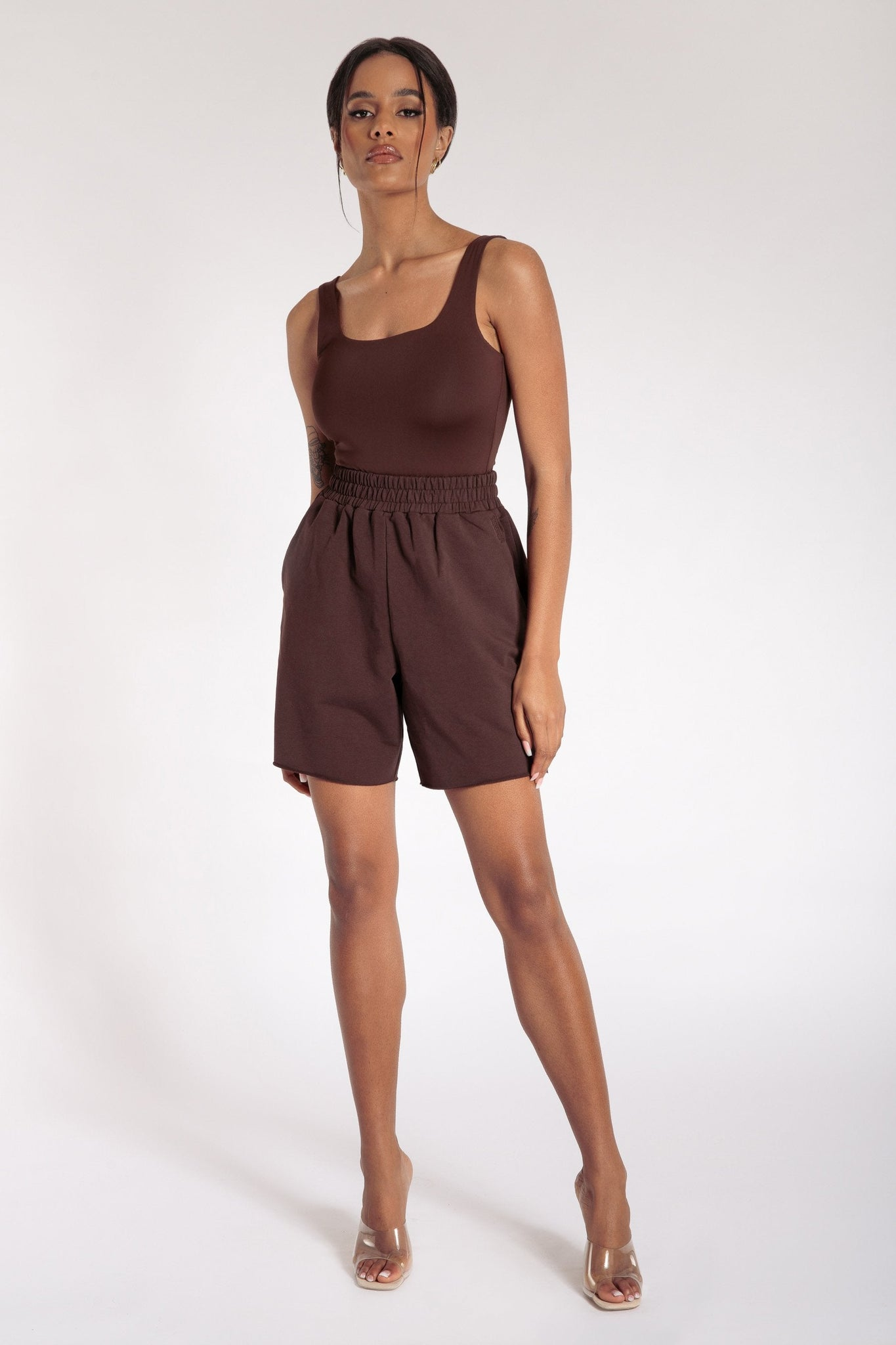 Paloma Long Shorts - Chocolate - MESHKI