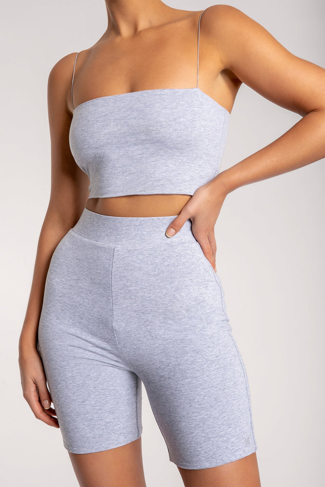 Yvonne Crop Top - Grey Marle - MESHKI