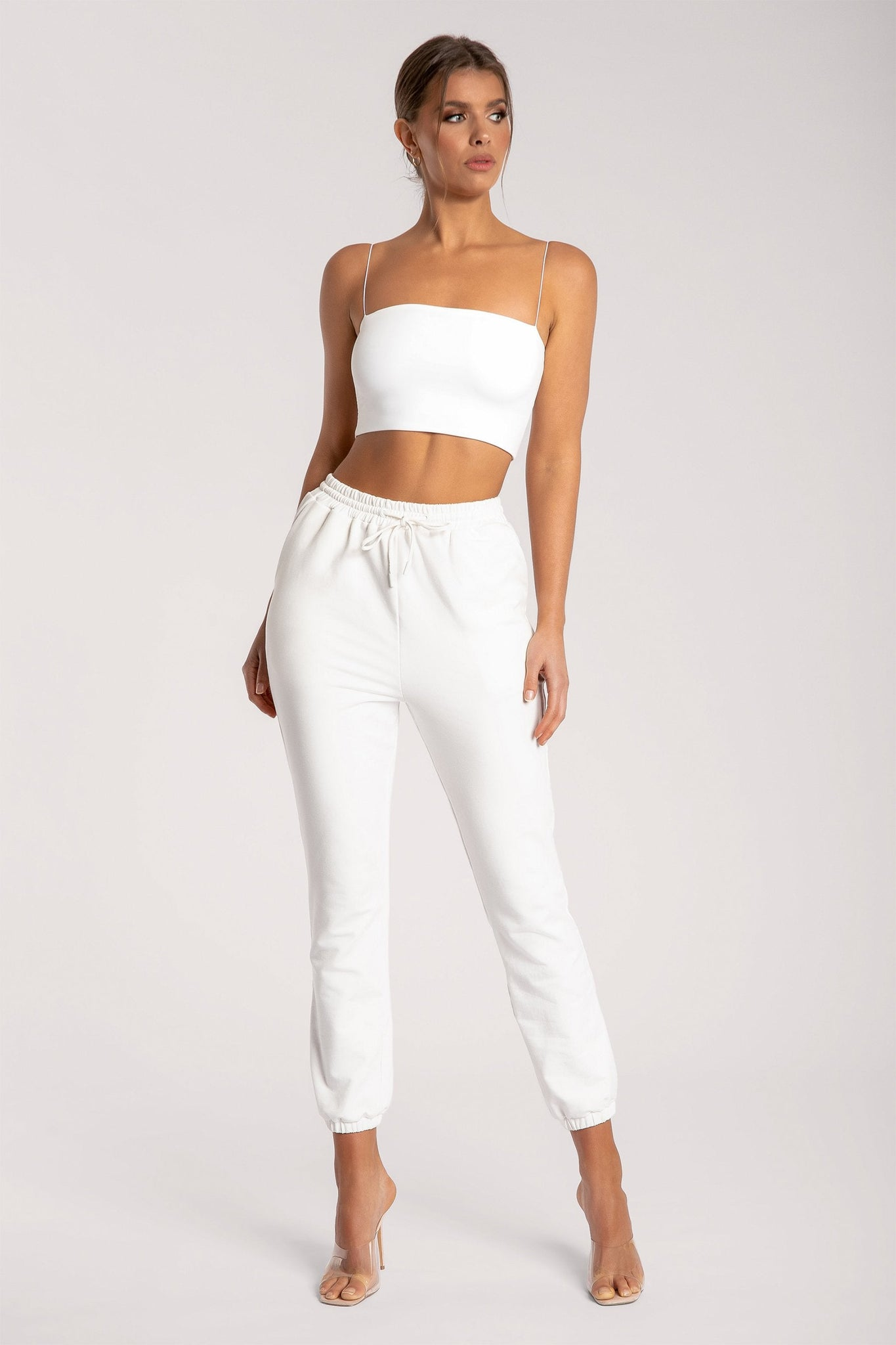 Yvonne Crop Top - White - MESHKI