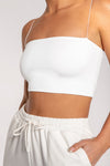 Yvonne Crop Top - Almond