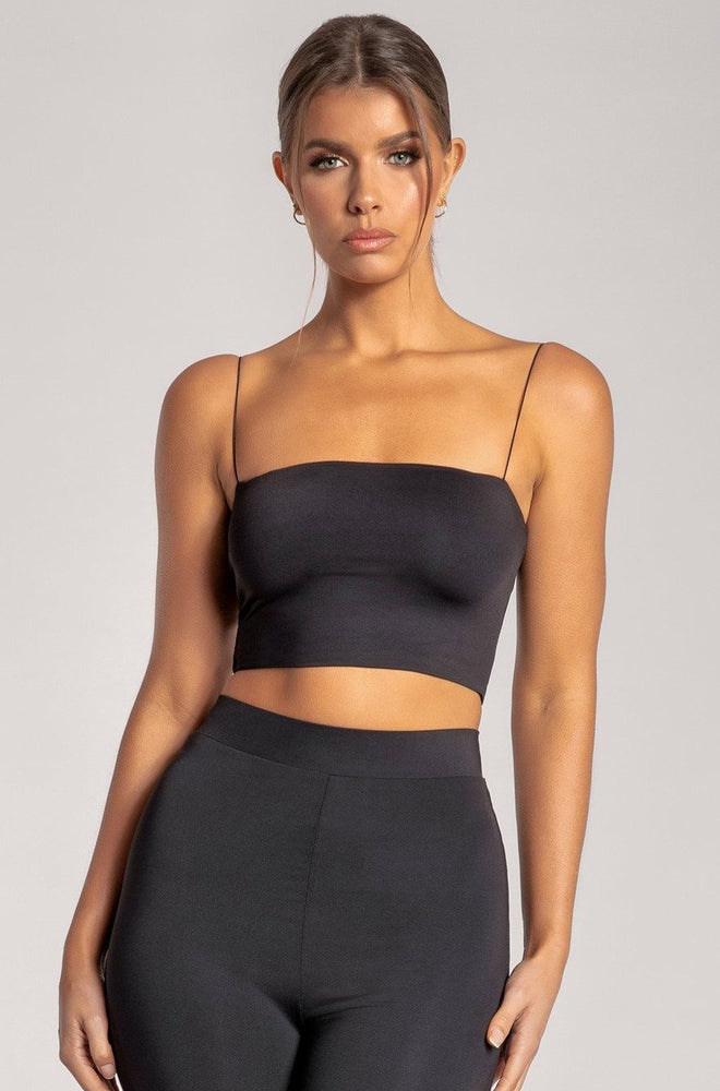Yvonne Crop Top - Black - MESHKI ?id=15702910599243