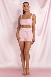 Molly 'Peachy' Shorts - Baby Pink - MESHKI ?id=15800611897419