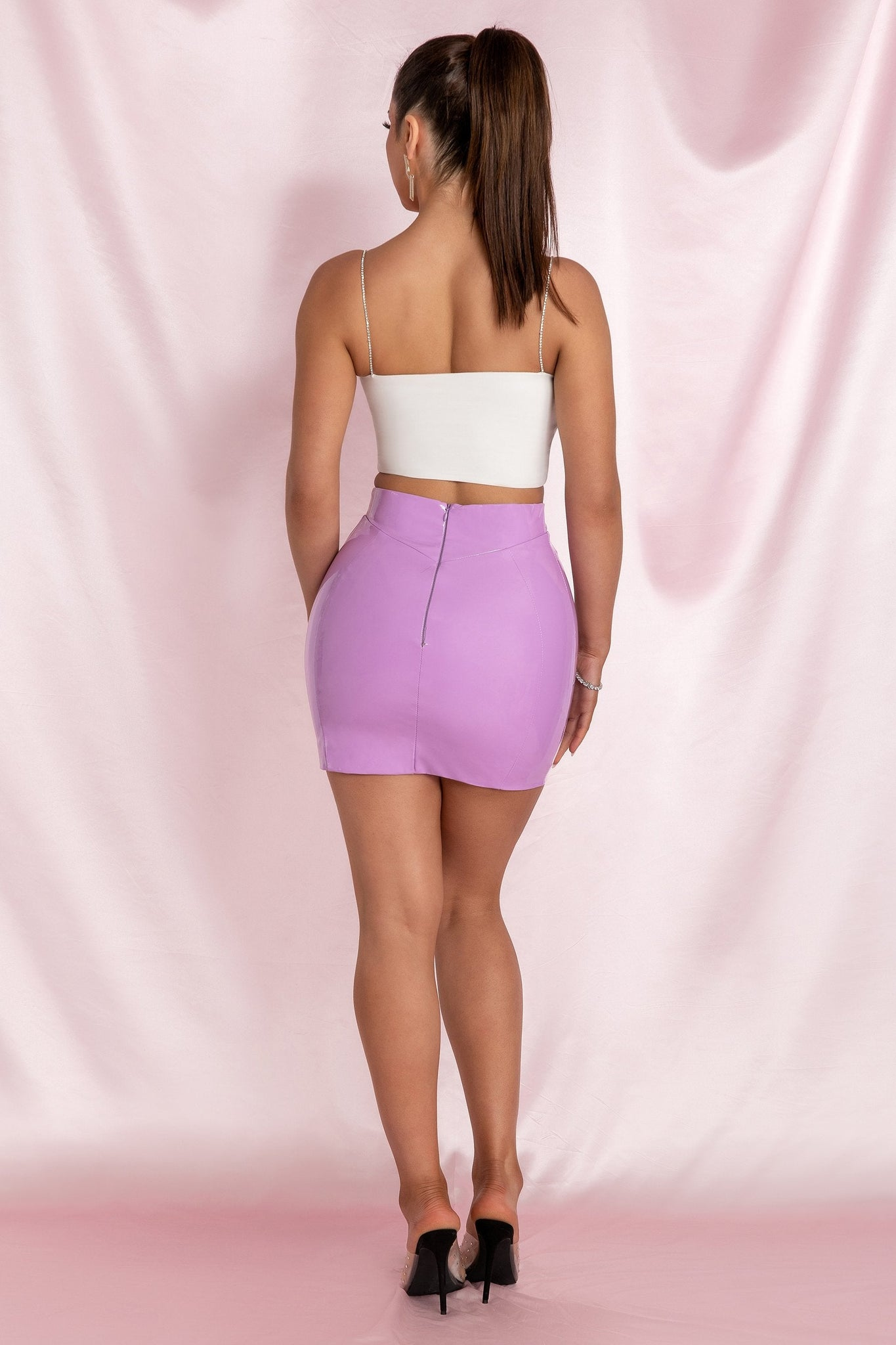 Kiki Bodycon Mini Skirt - Purple - MESHKI