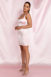 Mallory Diamante Underbust Trim Mini Dress - Baby Pink - MESHKI ?id=15800573001803