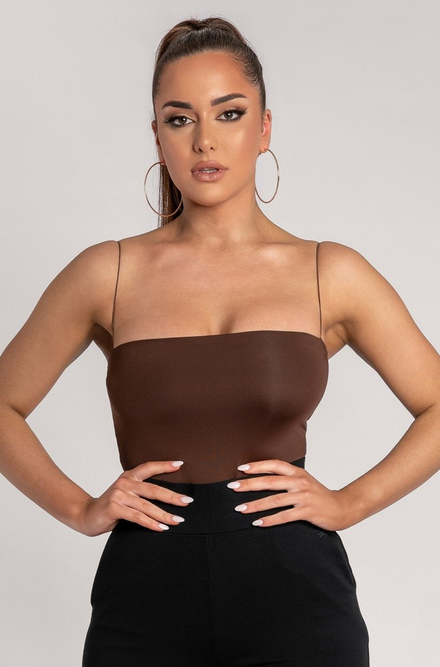 Leila Bodysuit - Chocolate - MESHKI