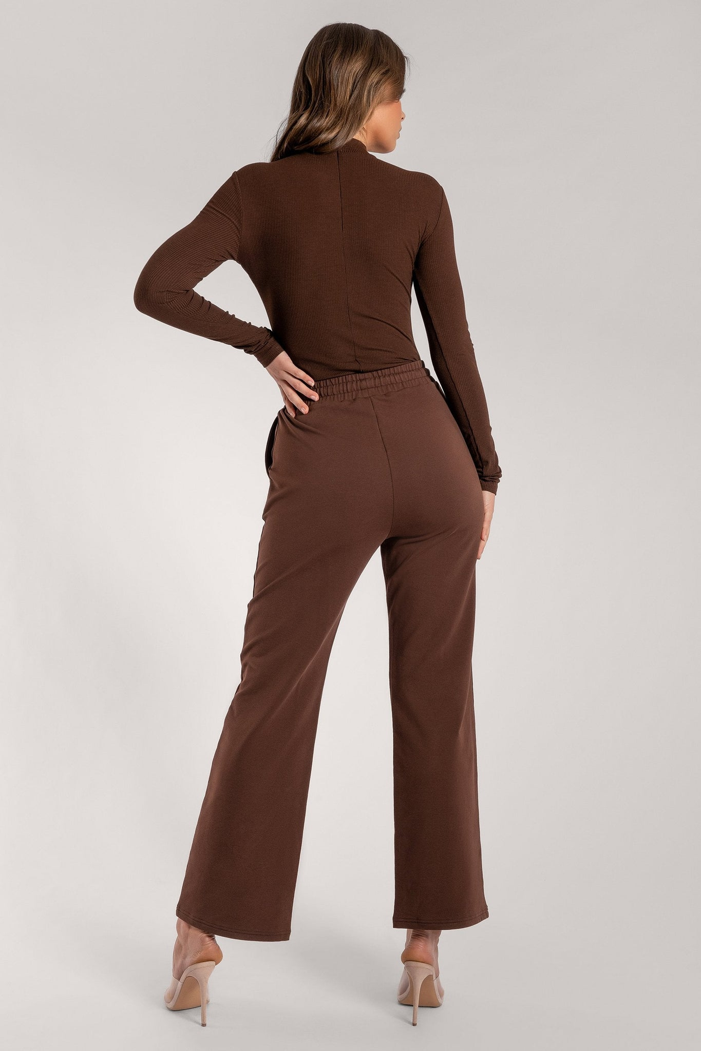 Lexie Long Sleeve Bodysuit - Chocolate - MESHKI