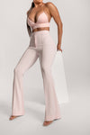 Zendaya Highwaisted Flare Pants - White