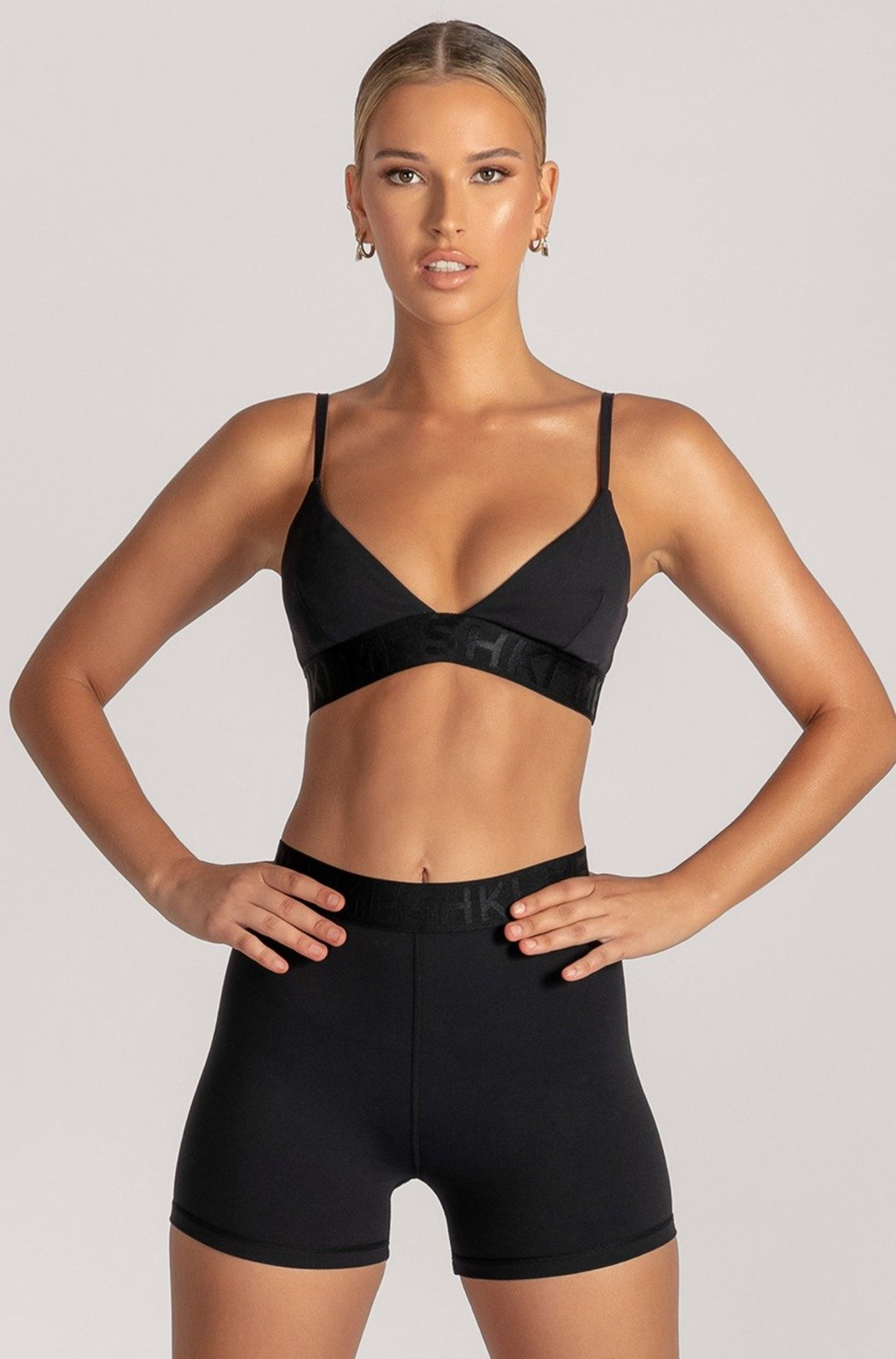 Rhea Meshki Triangle Crop Top - Black - MESHKI