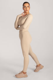 Venus V-Back Leggings - Nude - MESHKI ?id=16076078907467