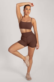 Asteria Thin Strap Crop Top - Chocolate - MESHKI ?id=16078475722827