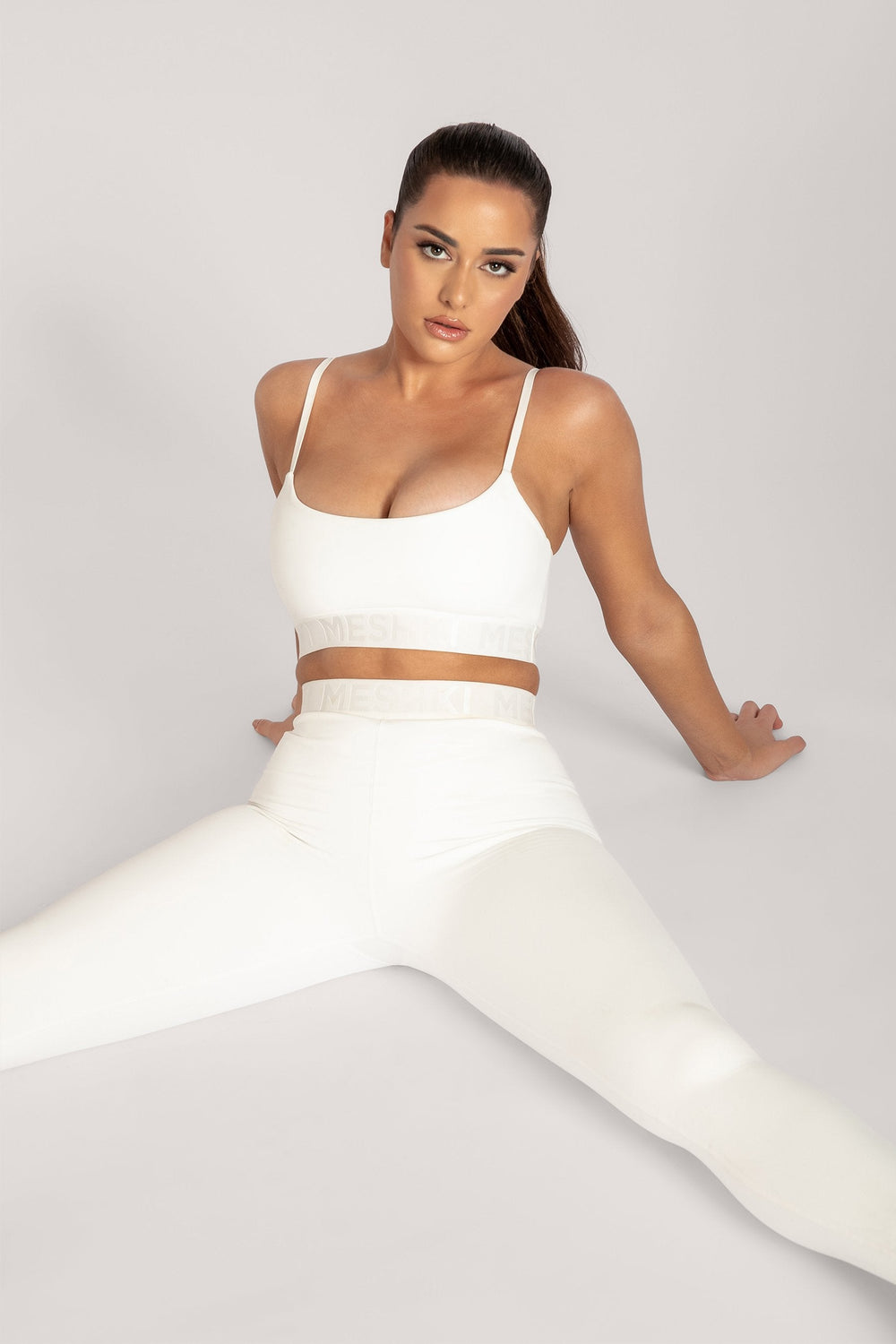 Acacia Meshki Full Length Leggings - White - MESHKI ?id=16076113608779
